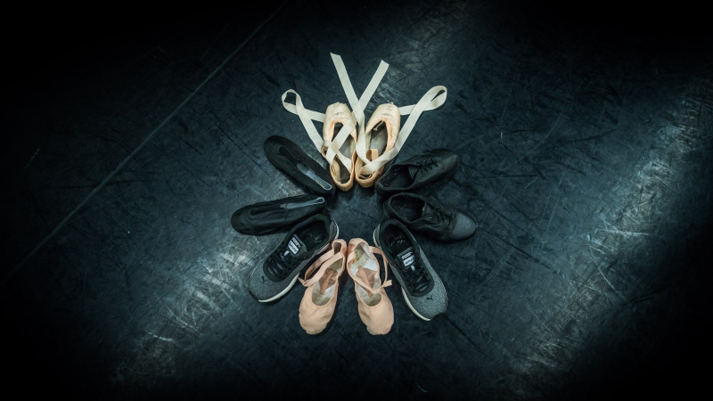 Image of different dance shoes depicting the multiple styles offered at Center Stage Dance in Omaha/Elkhorn Nebraska